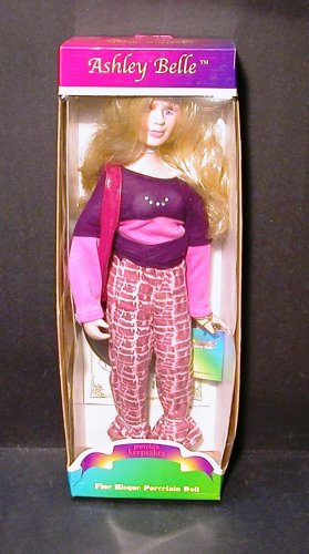 "Ashley Belle Porcelain Doll 16"" New In Box - EC"