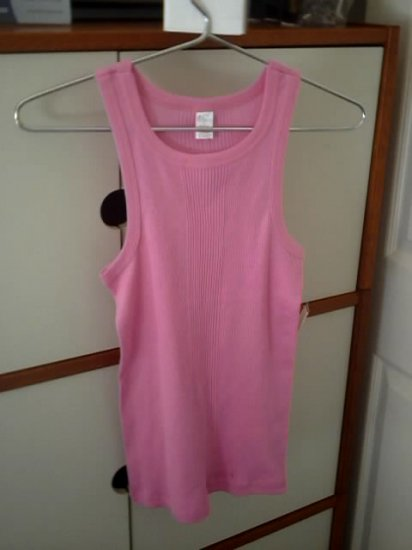 Pink tank top   with next day    free shipping