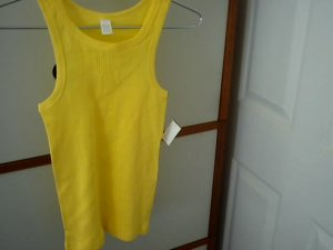 yellow tank top  with free next day shipping