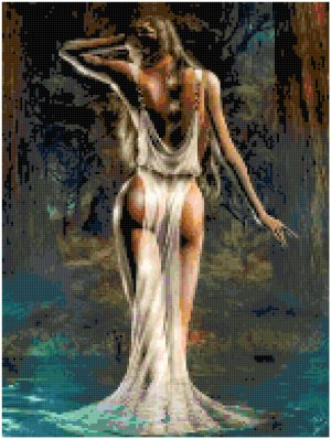 Counted Cross Stitch Original Pattern - Water Goddess