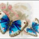 Cross Stitch Pattern Butterflies and Roses