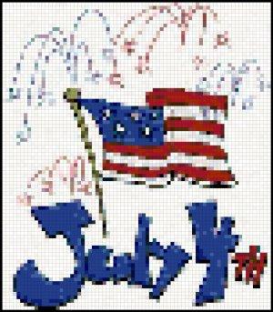 Fourth of July Cross Stitch Pattern