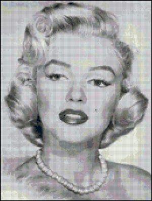 Marilyn Monroe Cross Stitch Pattern