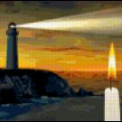 Cross Stitch Pattern of Lighthouse and Candle