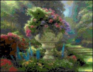Original Cross Stitch Pattern - Spring Garden