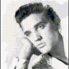 Original Counted Cross Stitch Pattern - Elvis Presley