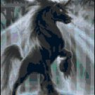 Counted Cross Stitch Pattern - Dark Unicorn