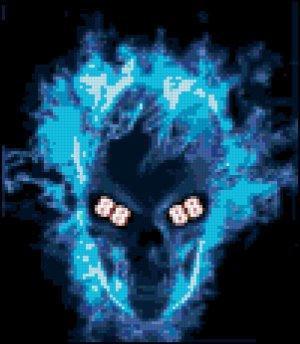 Dale Jr. Fan Skull Original Cross Stitch Pattern