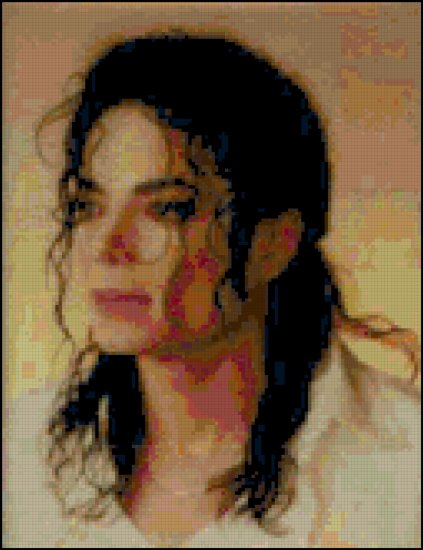 Michael Jackson Cross Stitch Portrait Pattern