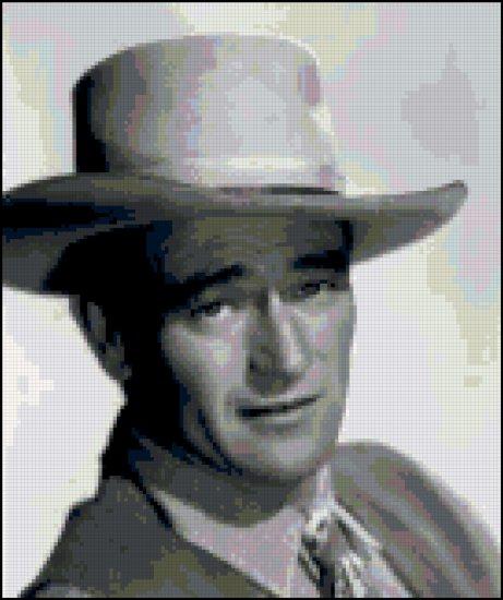 John Wayne (The Duke) Cross Stitch Pattern