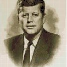 Cross Stitch Pattern - Portrait of John F Kennedy