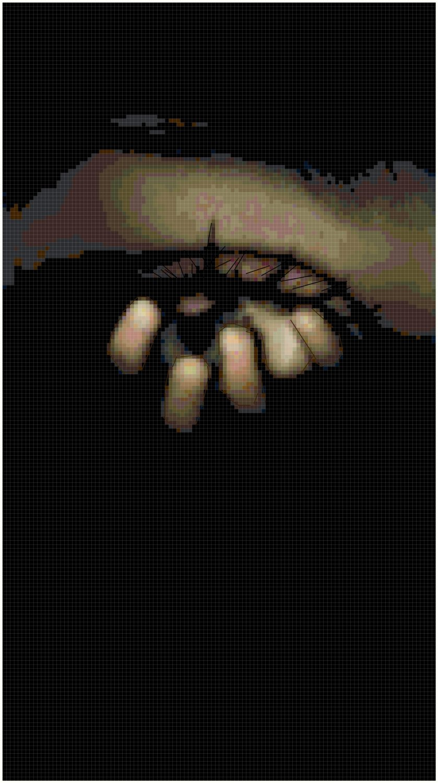 Scary Eye Original Cross Stitch Pattern