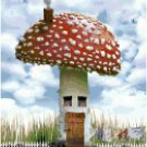 Mushroom House Cross Stitch Pattern