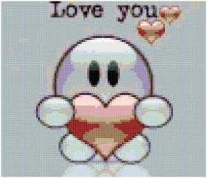 Love you original cross stitch pattern