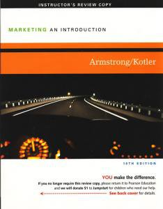 Marketing: An Introduction 10e 10th edition Gary Armstrong, Philip Kotler INSTRUCTOR'S