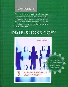 Human Resource Management 3rd Denisi & Griffin INSTRUCTOR'S EDITION 3e