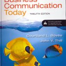(NEW) Business Communication Today 12th INSTRUCTOR'S EDITION 2014 9780132971294