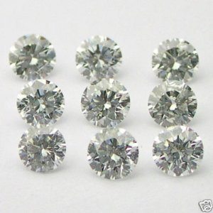 1/2 Carats 2mm WHITE ROUND BRILLIANT POLISHED DIAMONDS