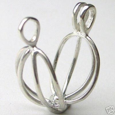 Silver Necklace Cage Beautiful Unique for Gem Treasures