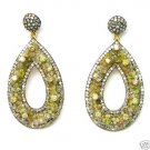 10.79 CARATS ROUGH BRILLIANT DIAMONDS 14K GOLD EARINGS