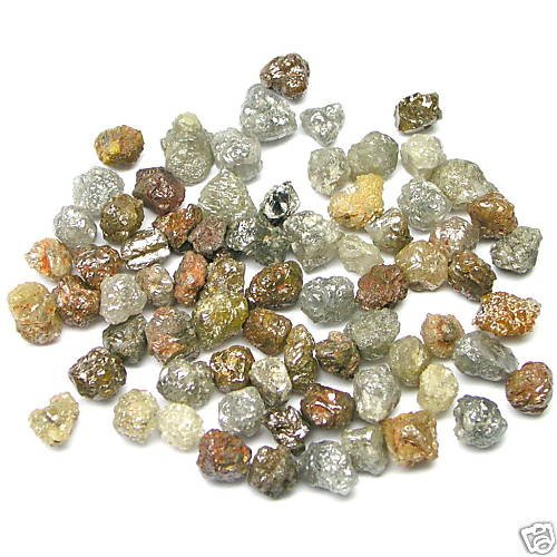 50+ Carats Natural Uncut Rough Raw Diamonds 1/2-1/1