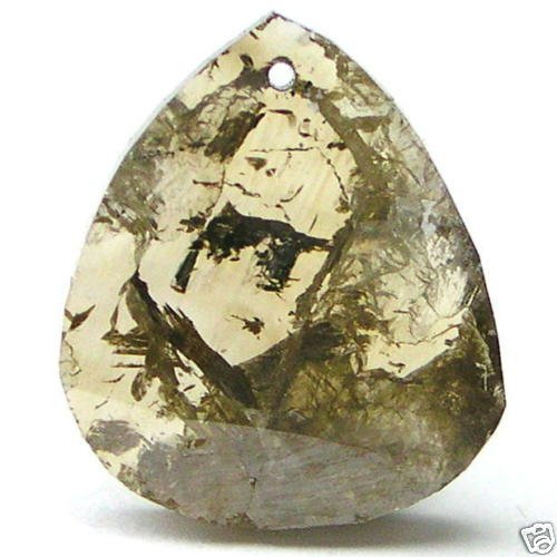 3.47 Carats COGNAC Brown Rough Cut DIAMOND SLICE GEMS!