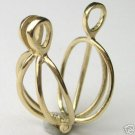 Natural 14K Yellow Gold Cage Pendant Jewelry Treasures