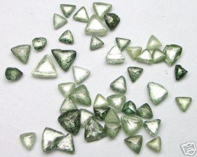 7.40 Carats Uncut Fancy GREEN Maccle Raw ROUGH DIAMONDS