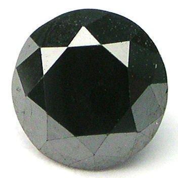 3/4 carat BLACK Brilliant Cut ROUND POLISHED DIAMONDS