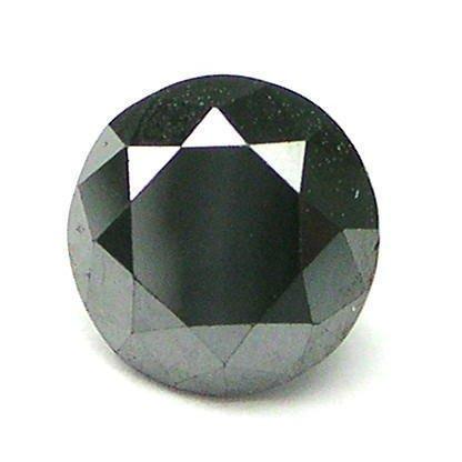 1 carat 5.5mm CALIBRATED BLACK ROUND POLISHED DIAMONDS