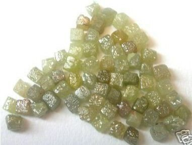 10+ Carat Natural Raw Uncut Rough Cubic Diamonds 1/4 pc