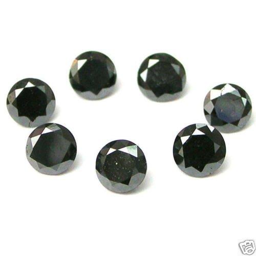 1 Carats 3.2mm BLACK ROUND BRILLIANT POLISHED DIAMONDS