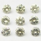 1+ Carats 1.5mm TOP LIGHT BROWN ROUND POLISHED DIAMONDS