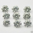 1+ Carats 1.5mm WHITE ROUND BRILLIANT POLISHED DIAMONDS
