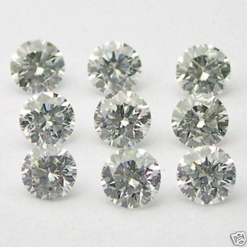 1+ Carats 2mm WHITE ROUND BRILLIANT POLISHED DIAMONDS