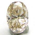 0.65 Carats OVAL Cut LIGHT BROWN Polished Diamonds