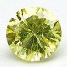 0.12 Carat Round INTENSE FANCY YELLOW Polished Diamonds