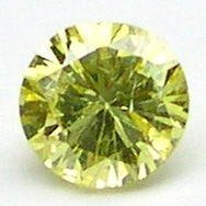 0.12 Carat Round INTENSE FANCY YELLOW Polished Diamonds