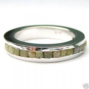 1.5+ Carat ROUGH DIAMOND JEWELRY 1/2 Eternity Gold Ring