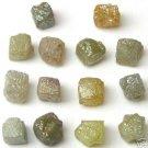 10+ Carat Natural Rough Diamond Diamonds 3/4 Cubes Gems