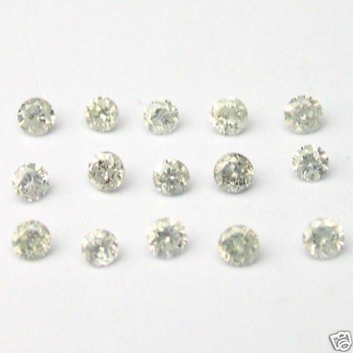 5 Carats 1.7mm WHITE ROUND BRILLIANT POLISHED DIAMONDS