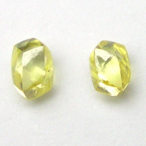 FANCY CANARY YELLOW Natural Raw ROUGH DIAMONDS PAIRS
