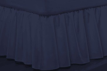 300 Thread Count Queen Bed skirt Egyptian Cotton Navy Blue Color