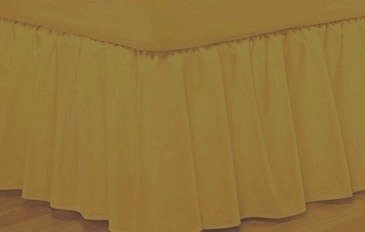 400 Thread Count Queen Bed skirt Egyptian Cotton Gold Color