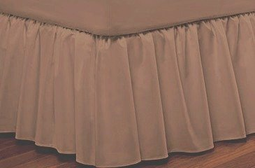 400-TC Queen bed skirt Taupe 100% Egyptian Cotton