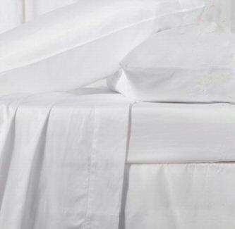 400tc Calking size flat sheet 100% Egyptian cotton white bed linen
