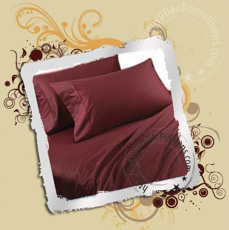 1000-TC Calking Sheet Set Egyptian Cotton Burgundy