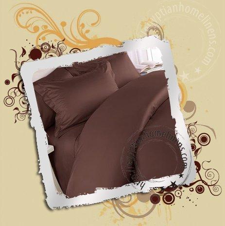 1000TC Queen Duvet Cover Egyptian Cotton Chocolate