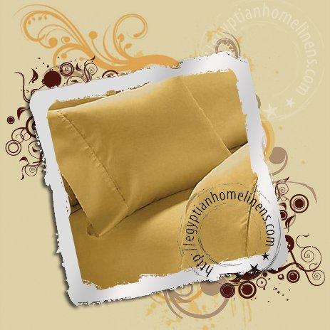 1000-TC Duvet Covers Queen Size Gold Egyptian Cotton