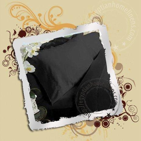 Full Black Sheet Set 1000TC Egyptian Cotton New Niel Valley Linen